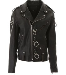 r13 biker jacket with decorations