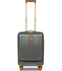 bric's capri 21-inch carry-on spinner suitcase - grey