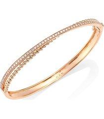 hueb women's bubbles 18k rose gold & diamond bangle bracelet