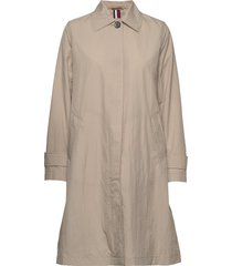 claudia packable cri trenchcoat lange jas beige tommy hilfiger