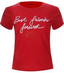 camiseta best friends color rojo, talla s