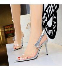 mujer taco sandalias zapatos de tacon con nudo ojal-gris