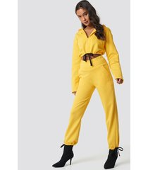 ivana santacruz x na-kd drawstring sweatpants - yellow