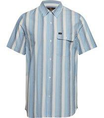 ss variation kortärmad skjorta blå lee jeans
