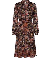 cardi dress knälång klänning multi/mönstrad minus