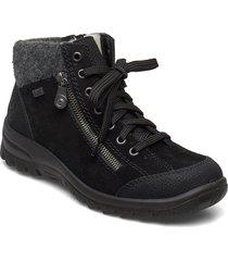 l7132-01 shoes boots ankle boots ankle boots flat heel svart rieker