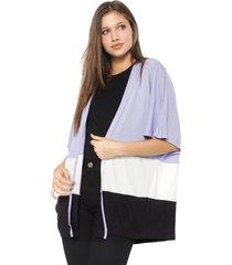 kimono hering recortes lilás/preto