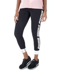 calça legging puma modern sports fold up - feminina - preto