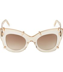48mm oversized clear cat eye sunglasses