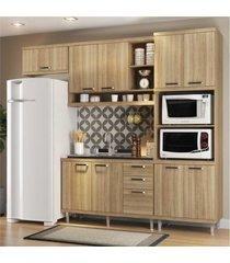 cozinha compacta completa multimã³veis com 4 peã§as sicãlia 5828 argila/argila - bege/incolor - dafiti
