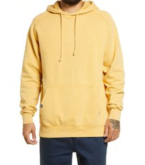 lira clothing vintage wash unisex sweatshirt, size x-small - yellow