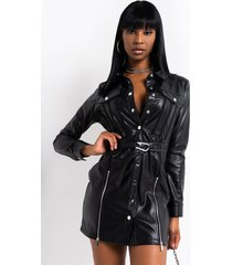 akira spicy lil thang faux leather mini dress