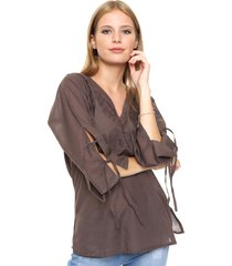 blusa marrón spiga 31