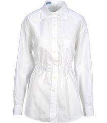 prada prada elasticated waist shirt