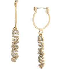 jessica simpson pave amour drop earrings