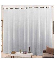 cortina 2,60m x 1,60m cetim amassadinho - branco