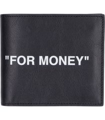 off-white leather flap-over wallet