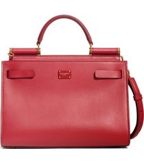 dolce & gabbana sicily 62 leather satchel -