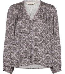 harper blouse blus långärmad grå odd molly