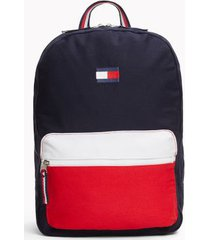 tommy hilfiger men's colorblock backpack sky captain/apple red -