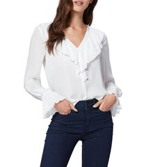 women's paige caprina pleat detail silk georgette blouse