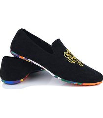 primavera otoño moda hombre loafer suave deslizamiento de plataforma de goma de camuflaje de zapatos
