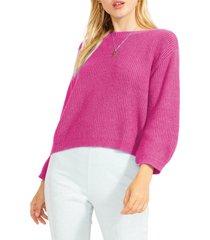 women's bb dakota fair play crop sweater, size x-small - pink