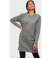 calvin klein ls 3d metallic logo dress loose fit dresses