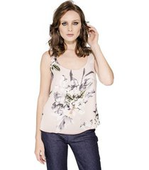 blusa print floral alphorria feminina