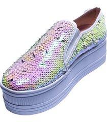 tenis sneakers multicolor murano shoes glitter claro
