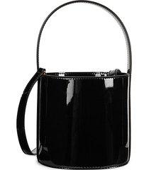 bisset patent leather bucket bag