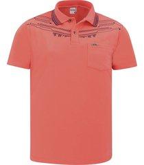 camiseta tipo polo audax con bolsillo coral
