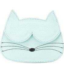 sarah chofakian cat card-holder - blue