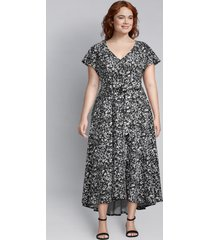 lane bryant women's lena dress 12p havana dot