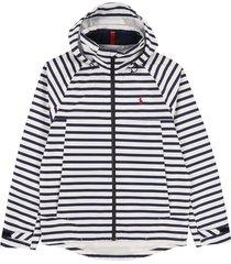 chaqueta deckwash white/frenc polo ralph lauren microfibra impermeable con capota interna perf