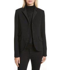 women's rag & bone slade wool blazer, size 12 - black