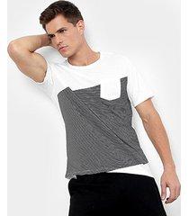 camiseta burn jack bolso masculina