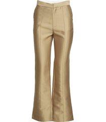 elvina pants pantalon met rechte pijpen goud by malina