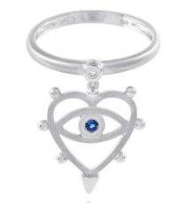 anel look mini branco c/saf azul/diamante ttlb