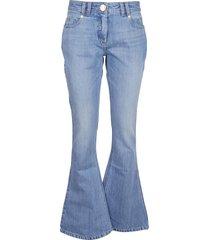 balmain low-rise bootcut jeans w/ monogram
