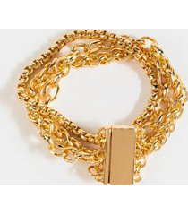 audrey mix metal chain bracelet - gold