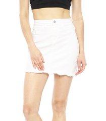 falda jacqueline de yong anica blanco - calce regular