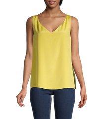 st. john women's silk-blend shell blouse - yellow - size s