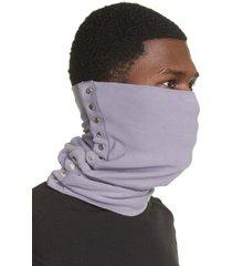 men's bryan jimenez lavender button head scarf, size one size - purple