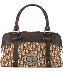 christian dior pre-owned traveller trotter tote - brown