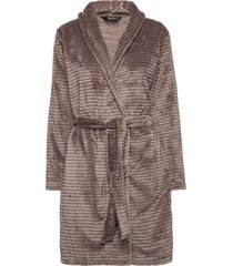 decoy short robe w/stripes morgonrock brun decoy