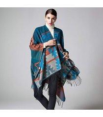 indian geometric extension thickening thickening mantle women winter shawl fashi