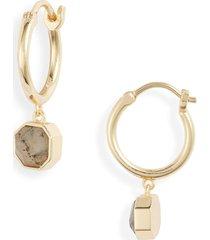 women's gorjana power stone charm huggie earrings