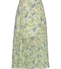 pleated midi knälång kjol grön abercrombie & fitch