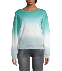 splendid women's tie-dyed cotton-blend sweatshirt - grey black - size s